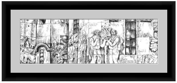 Framed mockup of Adam and Eve at Akdamar