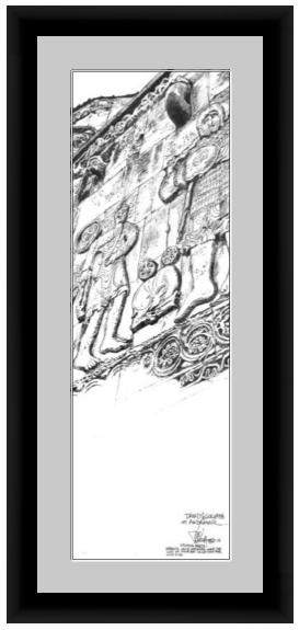Framed mockup of David and Goliath