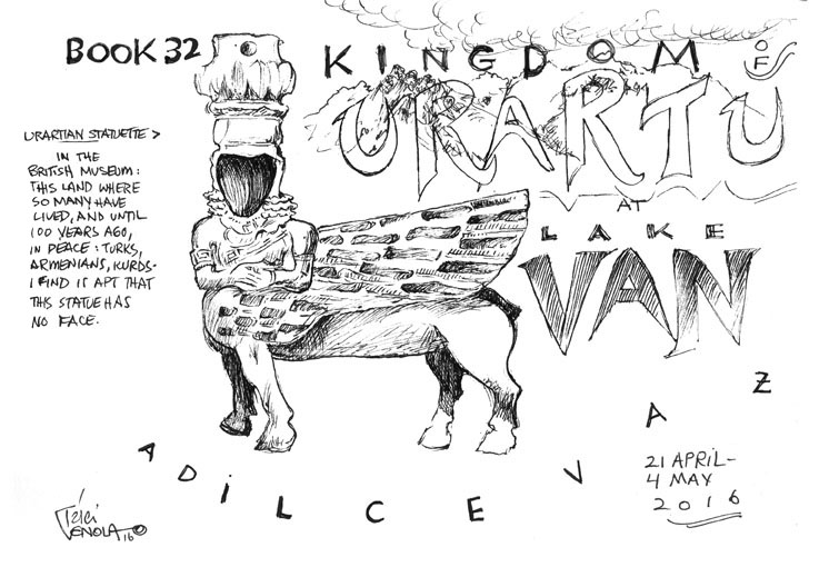 Title Page from Sketchbook 32, Kingdom of Urartu